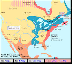 america map before and after and indian war brit war