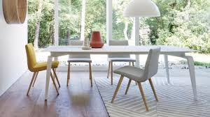 ligne roset contemporary dining table walnut solid wood natural oak