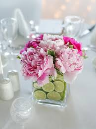 Table Flowers by Party Centerpieces Perennials Limes And Spring