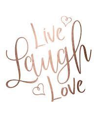 live laugh love rose gold foil print printable wall art live laugh love print