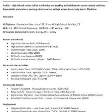 academic resume for college application sle of resume for college application best of sle high