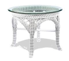 white wicker end table lloyd flanders wicker furniture wicker end tables collection white