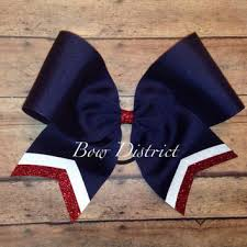 white and blue bows best blue and white cheer bows products on wanelo