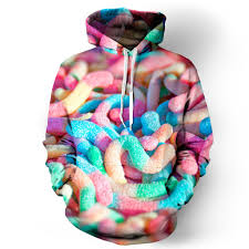 gummy clothes sour worms hoodie