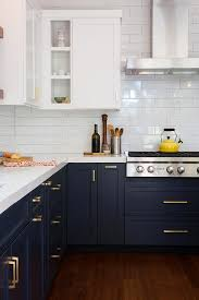 white cabinets on top blue on bottom white top cabinets and blue bottom cabinets design ideas