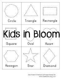 shape tracing worksheets for kindergarten number letter and