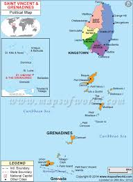 Caribbean Ocean Map by Of St Vincent And The Grenadines