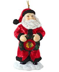memory company chicago blackhawks classic santa ornament sports