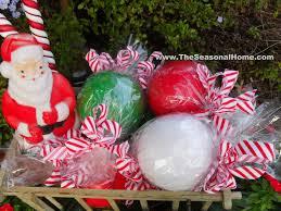 christmas gum balls ball candy cane ribbon outdoor chirstmas