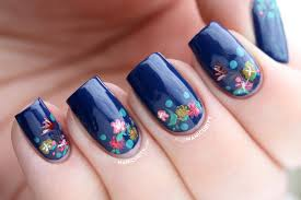 nail art nail art flowers freehand designs with pictures amazing