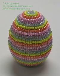 Decorating Easter Eggs With Beads by Beading For The Very Beginners Easter Egg Decorated With Beads In