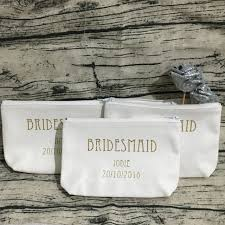 wedding gift kits personalized design set of 4 bridesmaid names makeup toiletry kits