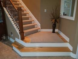 carpet stairs to wood ideas railing stairs and kitchen design