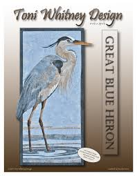 toni whitney design great blue heron applique quilt kit with