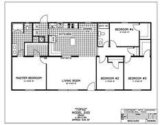 4 Bedroom Modular Home Floor Plans Clayton Homes Home Floor Plan Manufactured Homes Modular