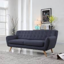 Mid Century Modern Living Room Ideas Interior Hygena Lexie Retro Compact Fabric With Compact 3 Seater