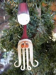 fork santa claus painted christmas ornament christmas