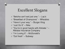 slogans and logos