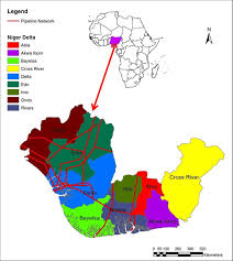 Africa Regions Map by Map Of Africa Showing The Niger Delta Region Red Box And