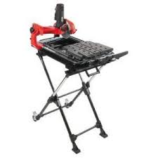 Husky 7 In Wet Tile Saw w Laser and Stand $140 Slickdeals