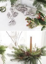 Easy Christmas Centerpiece - how i holiday easy christmas greenery centerpieces julep
