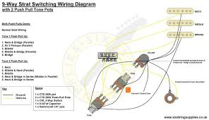 six string supplies u2014 9 way stratocaster wiring