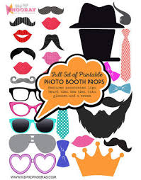 Props For Photo Booth Printable Diy Photo Booth Props U0026 Signs