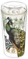 Peacock Mug Amazon Com Cypress Home Proud Peacock Double Wall Glass Travel