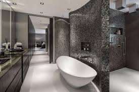 Modern Grey Bathroom Interior Design Mosaic Home Bathroom - Modern bathroom interior design