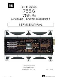 jbl 6ch amplifier gto series 755 6 loudspeaker amplifier