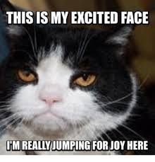 Excited Face Meme - this is my excited face um really jumping forjoy here meme on me me