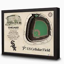 Chicago White Sox Map by U S Cellular Field 3d Wall Art Chicago Tribune Store