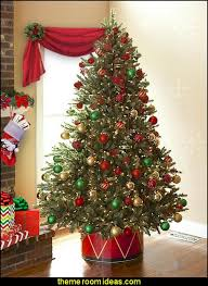 Decorative Christmas Tree Skirts by Decorating Theme Bedrooms Maries Manor Christmas Decorating