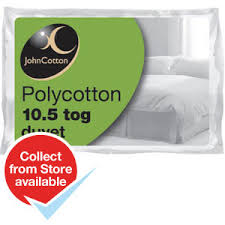 10 5 Tog Duvet Kingsize Buy John Cotton King Size Polycotton Duvet 10 5 Tog At Home Bargains