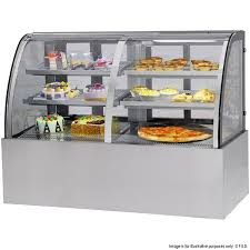 heated display cabinets second hand cg 3 display level curved series commercial refrigeration fed