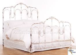 coaster iron beds and headboards full queen white metal headboard