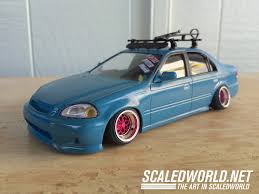 stanced honda scratch build honda civic sedan scaledworld