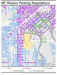San Francisco Districts Map by San Francisco Parking Permit Map Michigan Map