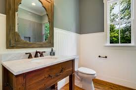 Cottage Wainscoting Beadboard Bathroom Farmhouse With Cottage Bathroom Mirror