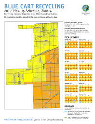 Chicago Zip Code Map by City Of Chicago Blue Cart Schedule And Maps