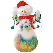 in kansas city plaza lights snowman porcelain ornament