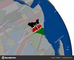 Images Kenya Flag Kenya With Flag On Globe U2014 Stock Photo Tom Griger 142260636
