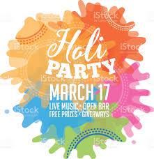 Event Invitation Card Holi Party Invitation Poster Greeting Card Design Stock Vector Art