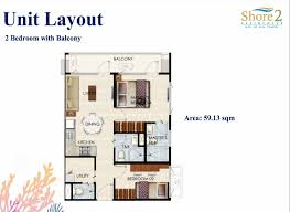 2 bedroom with balcony shore2 residences caluscusan