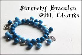bead bracelet with charm images How to make a stretch bracelet with dangles and charms emerging jpg