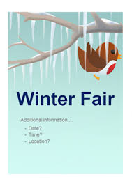editable winter fair poster free early years primary teaching