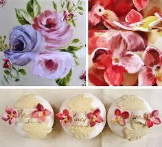 Hydrangea Wedding Amelie U0027s House Painted Rose And Hydrangea Wedding Cake