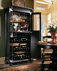 wine rack corner cabinet home bar design