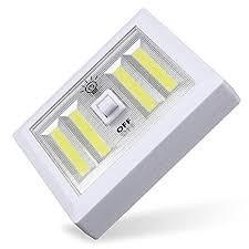 battery powered cl light masunn battery powered 4 cob led night light wall switch self stick