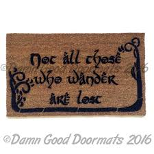 not all those who wander with trees doormat hobbit tolkien lord